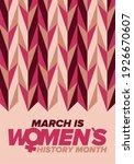 women's history month.... | Shutterstock .eps vector #1926670607