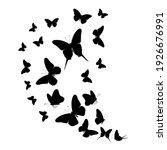 flock of silhouette black... | Shutterstock . vector #1926676991