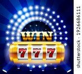 jackpot   777 on casino slot... | Shutterstock .eps vector #1926686111