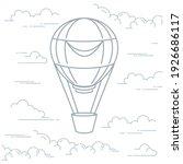 romantic hot air balloon in... | Shutterstock .eps vector #1926686117
