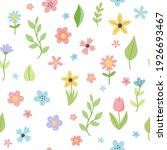 easter spring pattern with cute ... | Shutterstock .eps vector #1926693467