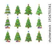 set of christmas trees. new... | Shutterstock . vector #1926701561