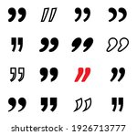 quote. black quotes vector... | Shutterstock .eps vector #1926713777