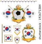 set of korea republic football... | Shutterstock .eps vector #192671384