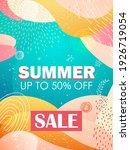 seasonal summer sale banner...   Shutterstock .eps vector #1926719054