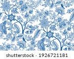 fantasy flowers in retro ... | Shutterstock .eps vector #1926721181