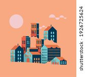 buildings minimal city scape... | Shutterstock .eps vector #1926725624