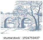 age high urban arc path way... | Shutterstock .eps vector #1926753437