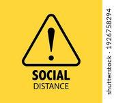 social distancing sign.... | Shutterstock .eps vector #1926758294