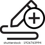 note add icon isolated on a... | Shutterstock .eps vector #1926763994