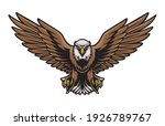 eagle birds flying gripping...   Shutterstock .eps vector #1926789767