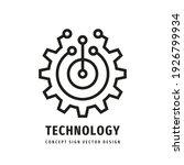 technology gear concept... | Shutterstock .eps vector #1926799934