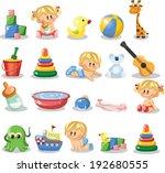 vector illustration of baby... | Shutterstock .eps vector #192680555