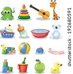 vector illustration of  nursery ... | Shutterstock .eps vector #192680591