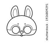 bunny mask with eye slits... | Shutterstock .eps vector #1926809291