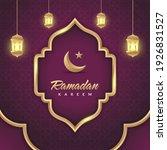 ramadan social media post...   Shutterstock .eps vector #1926831527
