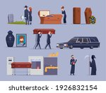 death ceremony. burial dying... | Shutterstock .eps vector #1926832154