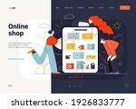 business topics  online... | Shutterstock .eps vector #1926833777