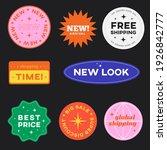 set of shopping stickers retro...   Shutterstock .eps vector #1926842777