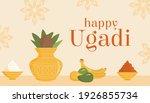 happy ugadi holiday kannada... | Shutterstock .eps vector #1926855734