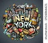 new york hand drawn cartoon...   Shutterstock .eps vector #1926866621