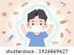 a strong healthy asian boy... | Shutterstock .eps vector #1926869627