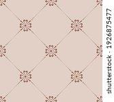 small flower in diamond grid... | Shutterstock .eps vector #1926875477