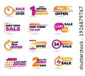 sale countdown badges. last... | Shutterstock .eps vector #1926879767
