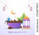 muslim men are happy and enjoy... | Shutterstock .eps vector #1926879857