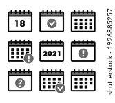 calendar icons. event add... | Shutterstock . vector #1926885257
