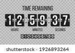 black mechanical scoreboard... | Shutterstock .eps vector #1926893264