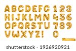 Gold Balloons  Alphabet Letters ...