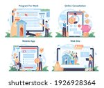 pension fund online service or... | Shutterstock .eps vector #1926928364