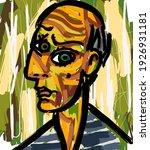 cubist great painter face... | Shutterstock .eps vector #1926931181