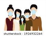 illustration of asian family...   Shutterstock .eps vector #1926932264