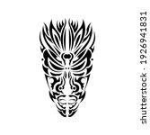 mask in samoan style ornaments. ... | Shutterstock .eps vector #1926941831