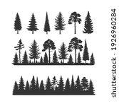 vector trees illustrations.... | Shutterstock .eps vector #1926960284
