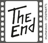 the end black lettering text on ... | Shutterstock .eps vector #1926966971