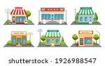 shops fronts on street.... | Shutterstock .eps vector #1926988547