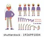 little boy character... | Shutterstock .eps vector #1926991004