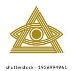 all seeing eye in triangle... | Shutterstock .eps vector #1926994961