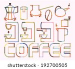 coffee blend rounded stroke... | Shutterstock .eps vector #192700505