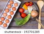preparing a healthy vegetarian...