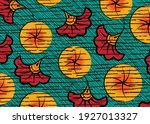 african wax print fabric ... | Shutterstock .eps vector #1927013327