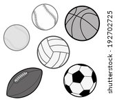 sports balls in grey scale ... | Shutterstock .eps vector #192702725