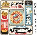 fast food restaurants and...   Shutterstock .eps vector #1927058471