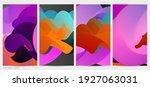 3d fluid wavy shape. bright...   Shutterstock .eps vector #1927063031