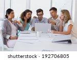 casual business team having a... | Shutterstock . vector #192706805