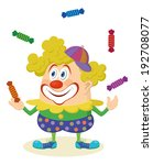 cheerful kind circus clown in... | Shutterstock .eps vector #192708077