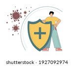 protecting life and health from ... | Shutterstock .eps vector #1927092974
